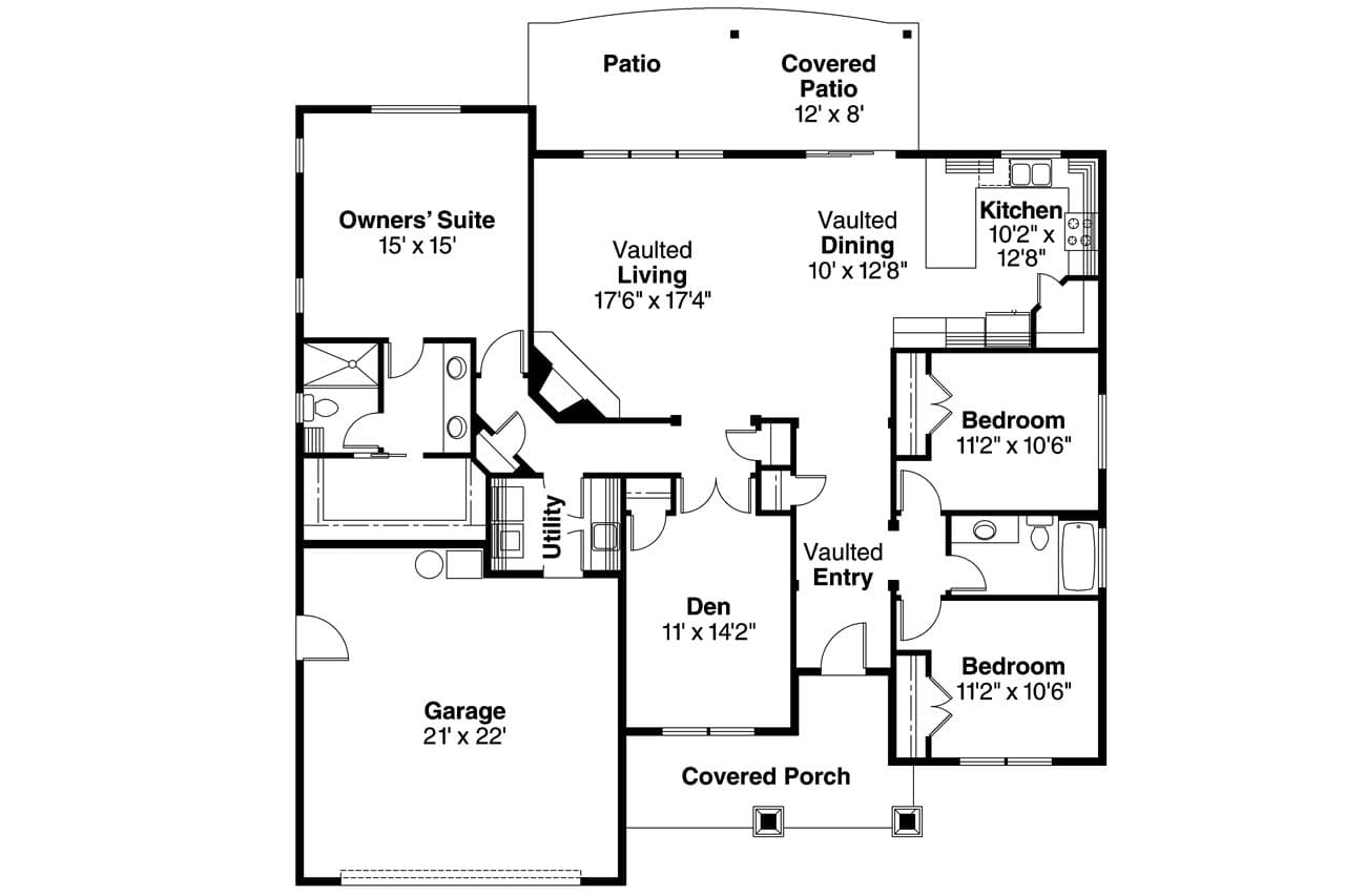 Riverside # 12253 | The House Plan Company on house with a great room floor plans, house with garage apartment floor plans, house with open concept floor plans,