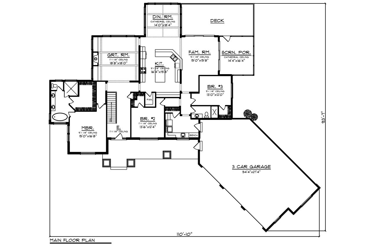 16533 | The House Plan Company on ranch house plans breezeway garage add, ranch house plans with garage, ranch side-entry, ranch house with three car garage, ranch style house additions entry, ranch style home with garage addition,