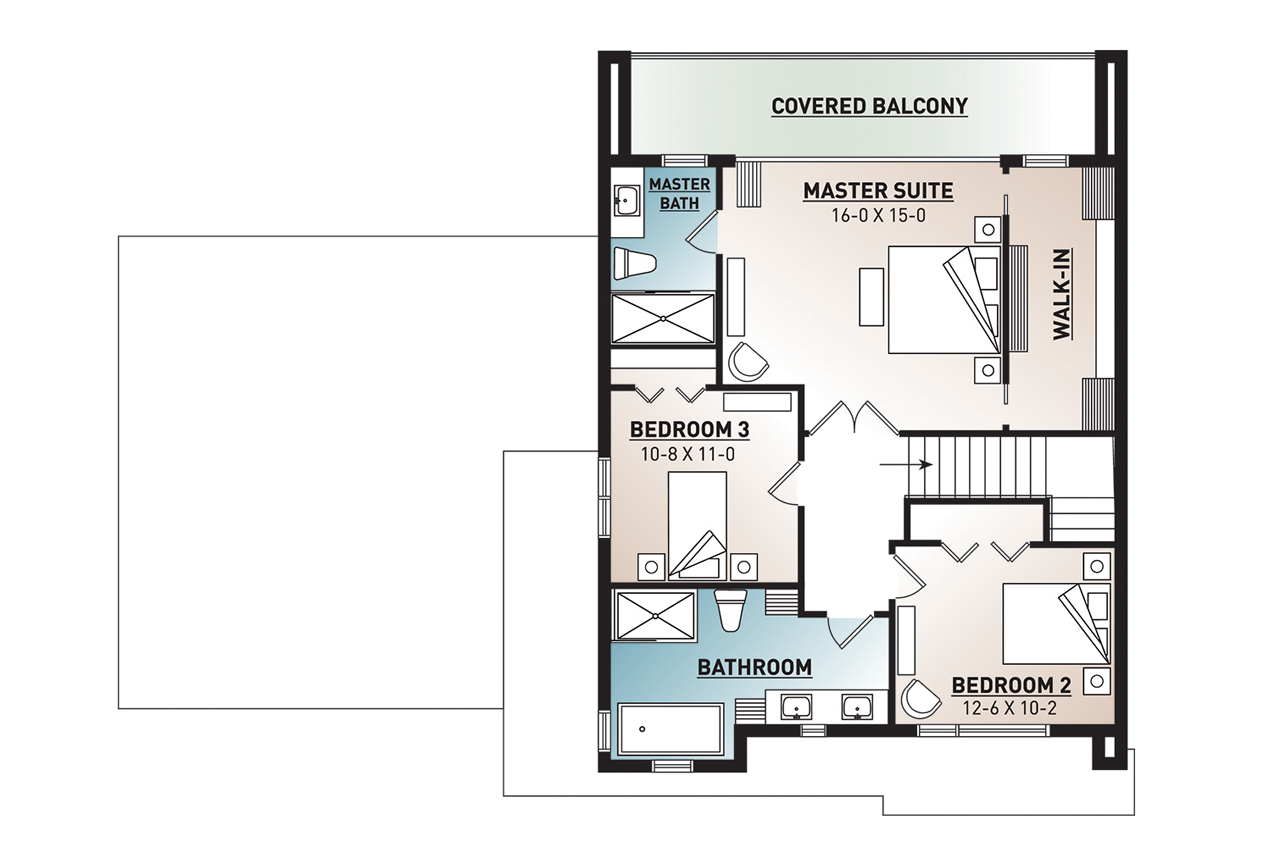 Essex 2 # 52812 | The House Plan Company