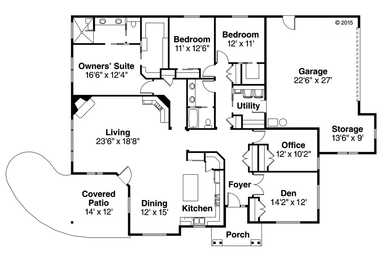 Baileyville # 58863 | The House Plan Company on house with a great room floor plans, house with garage apartment floor plans, house with open concept floor plans,
