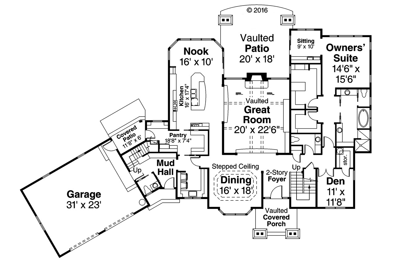 Timberline 77358 the house plan company for Timberline homes floor plans