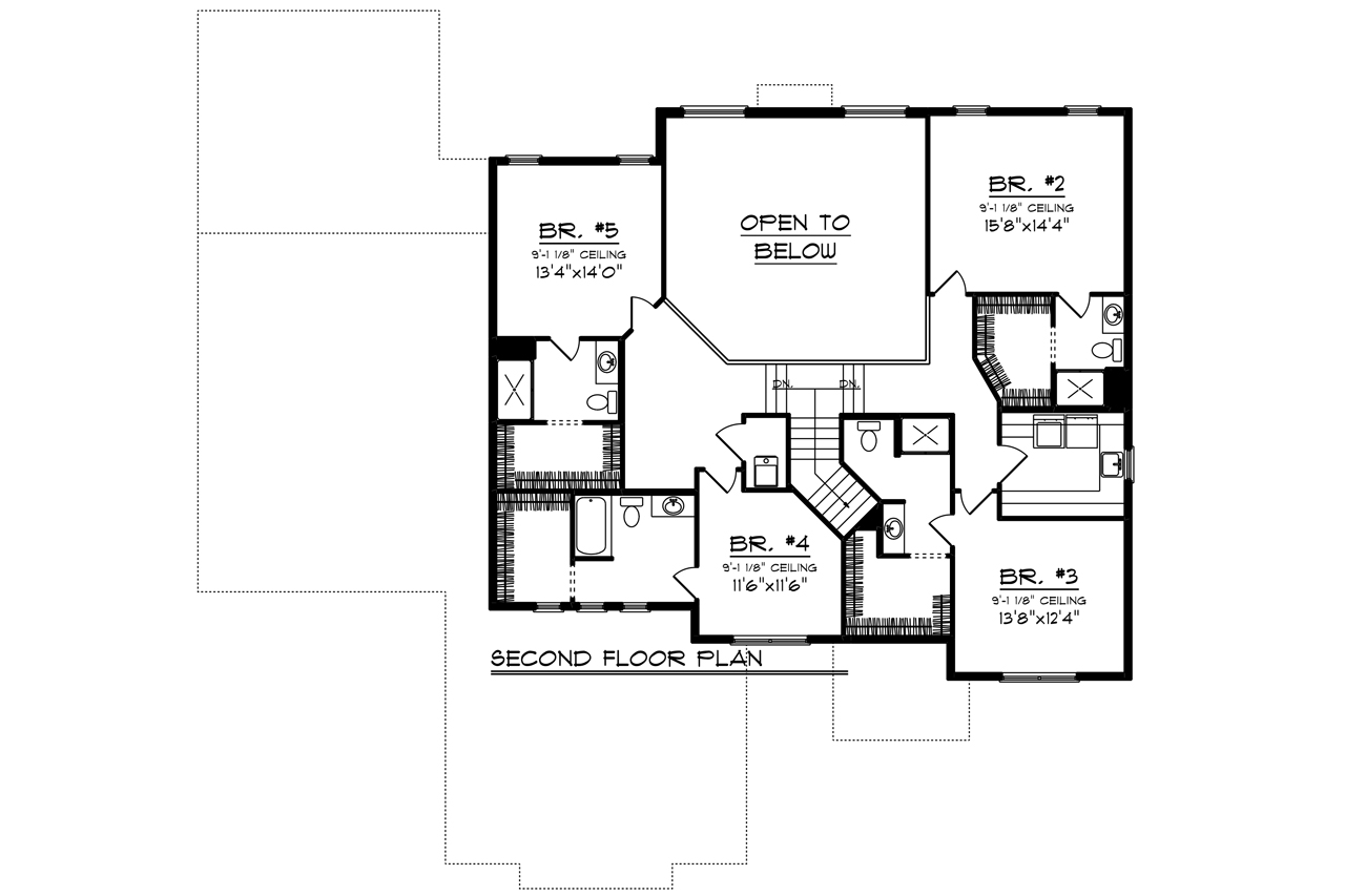 2 Story House Plans Open Below New