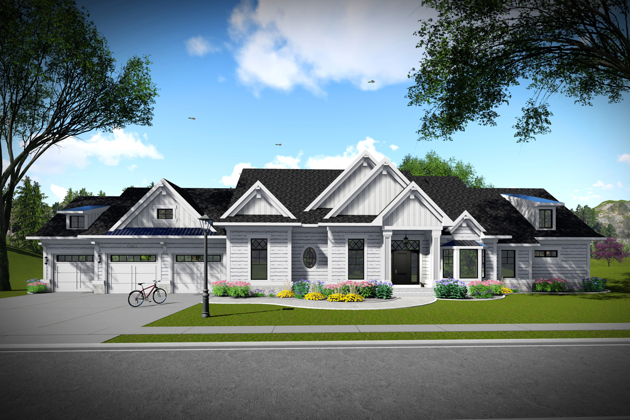 22557 The House Plan Company Residential Electrical General Notes Ranch Front Exterior