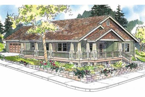 One Story House Plans, One Story Home Plans, One Story Floor Plans