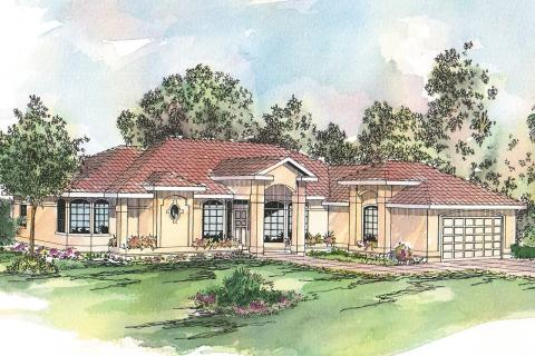 Spanish Style House Plans, Spanish Style Home Plans, Spanish Style Floor Plans