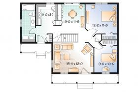 cottage_home_plan_1478_main Narrow Home Plans For Lots Less Than Sqft on