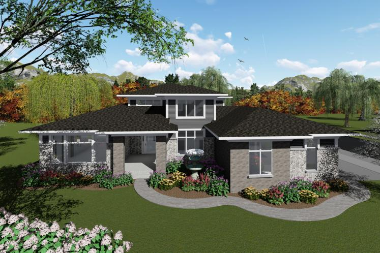 Modern House Plan -  61149 - Front Exterior