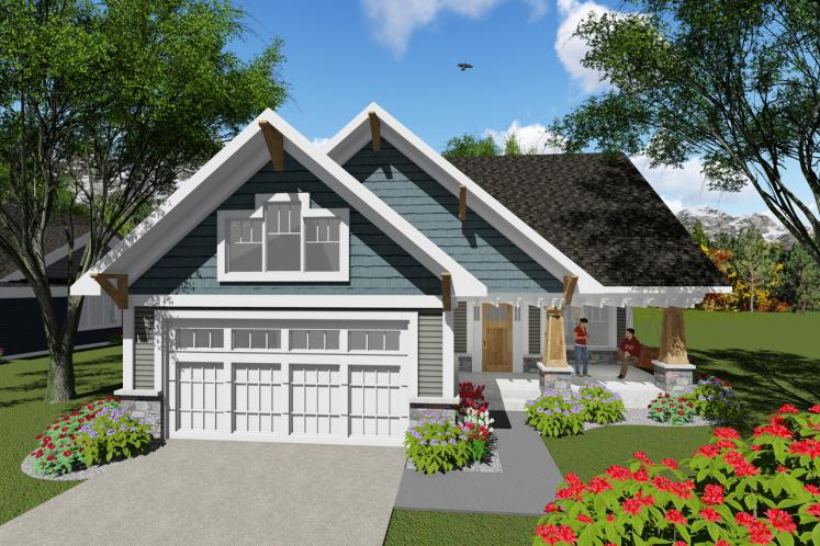 Cottage House Plan -  24601 - Front Exterior
