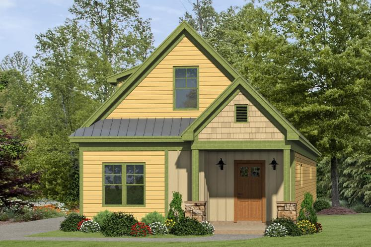 Cottage House Plan -  82852 - Front Exterior