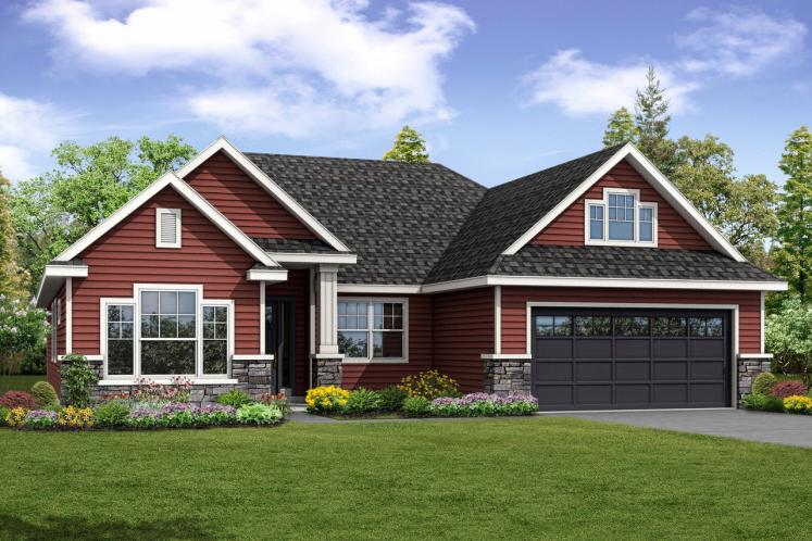 Ranch House Plan - Barrington 57077 - Front Exterior