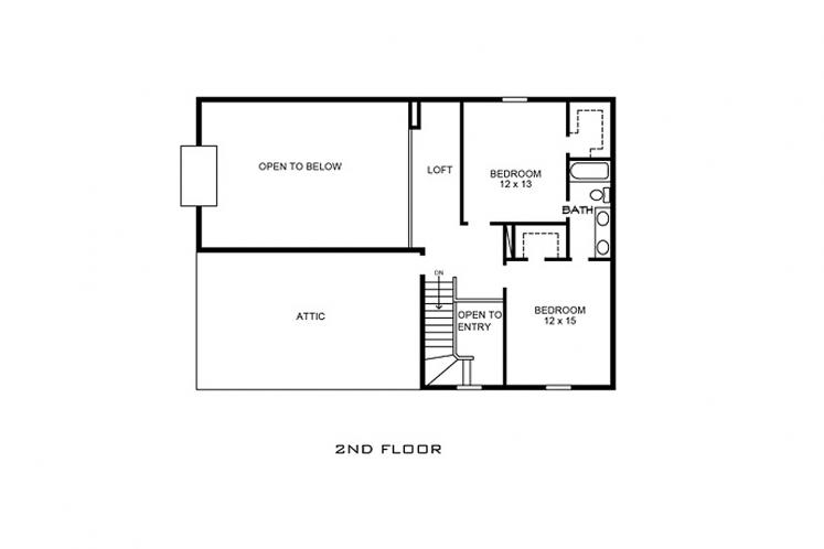 Country House Plan - Lockhart 40364 - 2nd Floor Plan