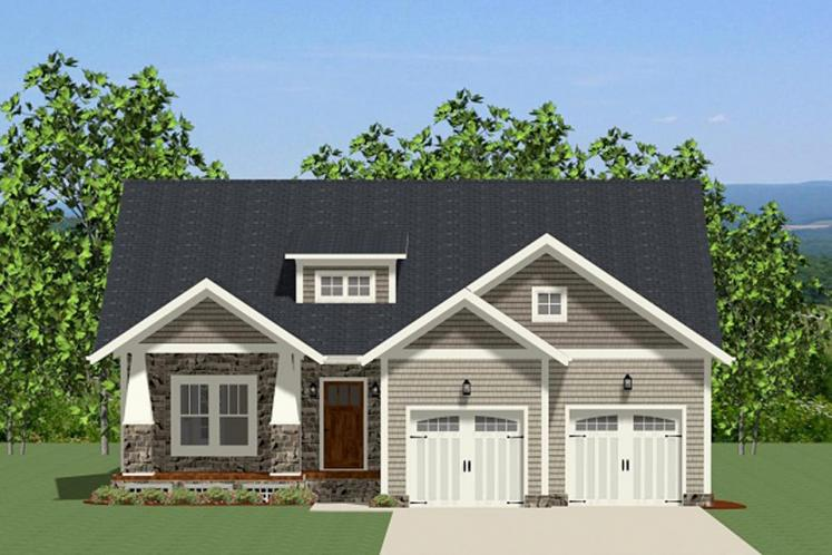 Craftsman House Plan - Cotswald 90916 - Front Exterior