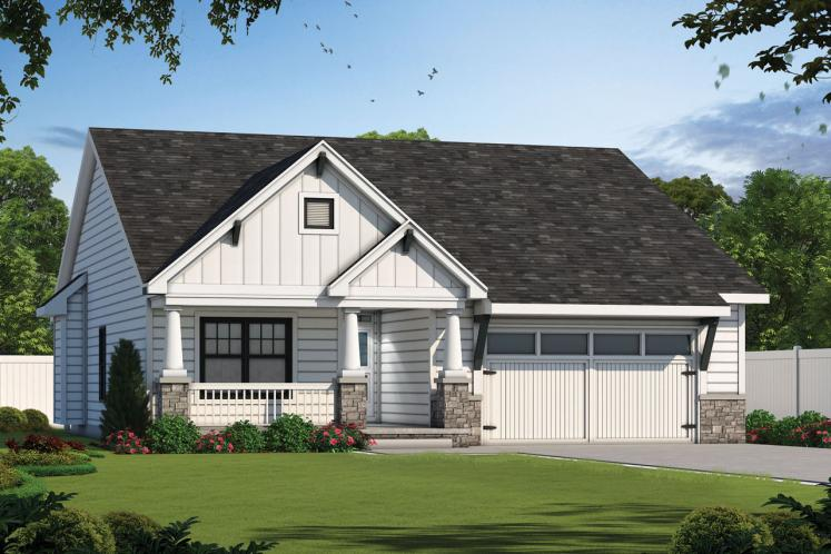 Cottage House Plan - Telluride Grove 40209 - Front Exterior