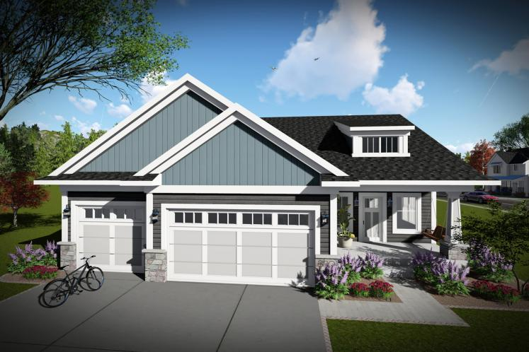 Craftsman House Plan -  33797 - Front Exterior