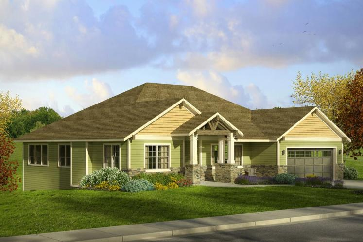 Craftsman House Plan - Berkshire 31920 - Front Exterior