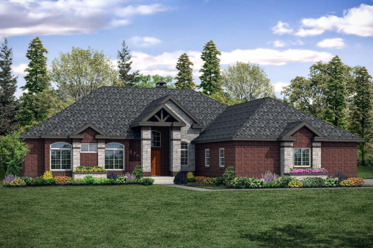 European House Plan - Toketee 35919 - Front Exterior