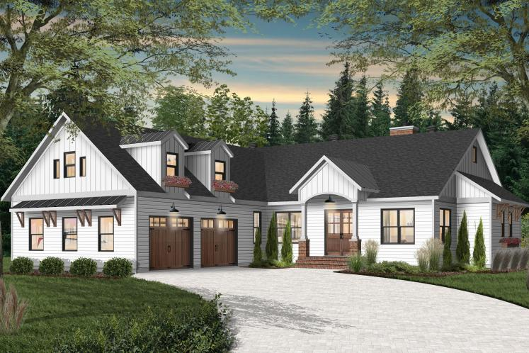 Farmhouse House Plan - Millport 2 36134 - Front Exterior