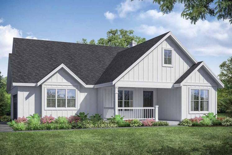 Farmhouse House Plan - Whiskey Creek 93944 - Front Exterior