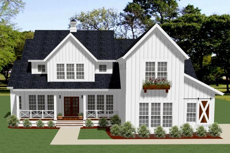 Farmhouse House Plan - Oak Grove 52946 - Front Exterior