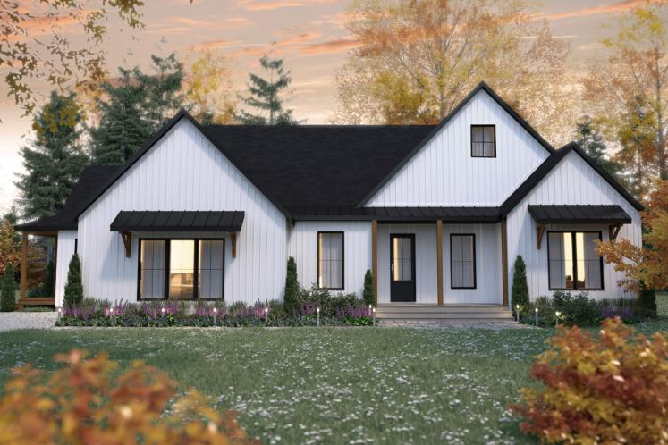 Farmhouse Multi-family Plan - Generation 44964 - Front Exterior