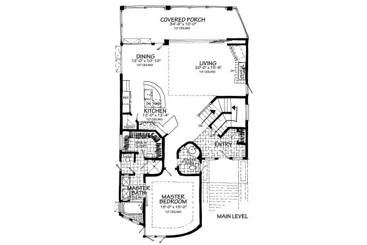 Modern House Plan - Highlands 78221 - 1st Floor Plan
