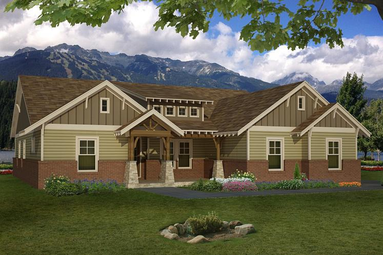Craftsman House Plan -  76031 - Front Exterior