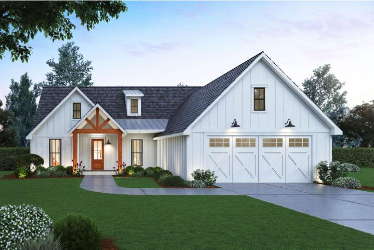 Farmhouse House Plan - Hidden Creek 69325 - Front Exterior