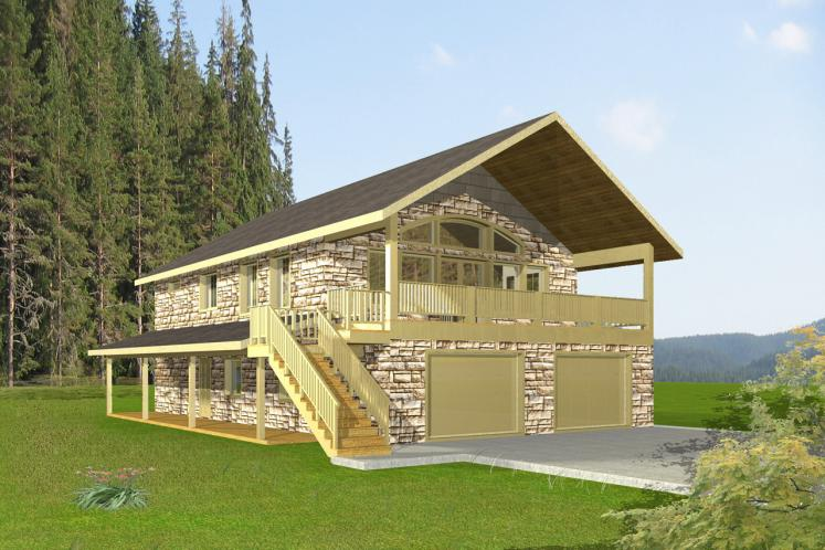 Lodge Style House Plan -  10105 - Front Exterior
