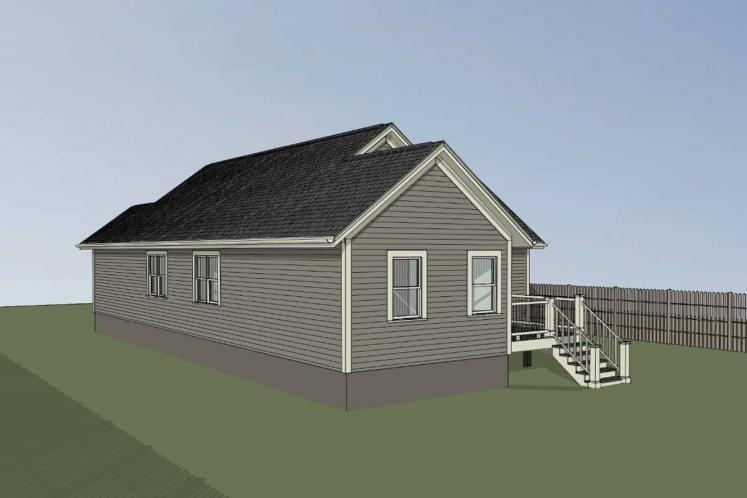 Traditional House Plan -  10127 - Right Exterior