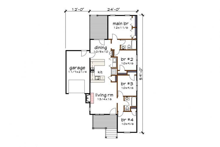 Country House Plan -  10127 - 1st Floor Plan