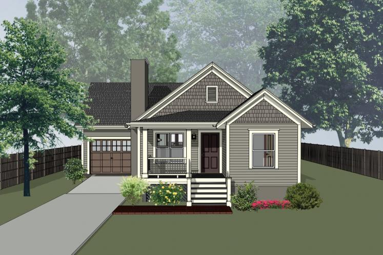 Country House Plan -  10127 - Front Exterior