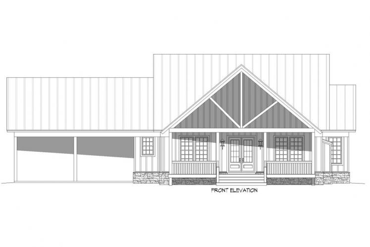 Craftsman House Plan - Grand Bay 10134 - Front Exterior