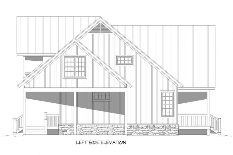 Cottage House Plan - Grand Bay 10134 - Left Exterior