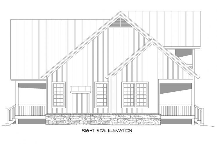 Country House Plan - Grand Bay 10134 - Right Exterior