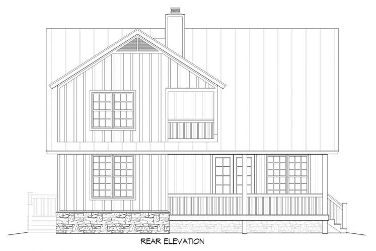 Cottage House Plan -  10195