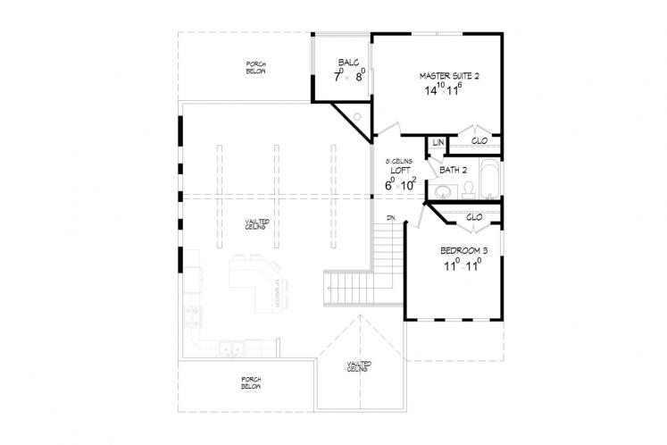Cottage House Plan -  10195 - 2nd Floor Plan