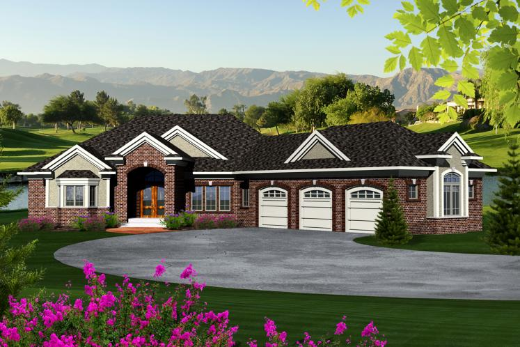 Ranch House Plan -  10307 - Front Exterior