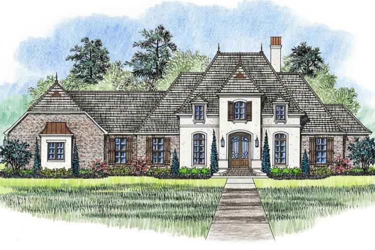 European House Plan - Madisonville 10457 - Front Exterior