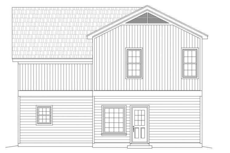 Country House Plan -  10505 - Rear Exterior