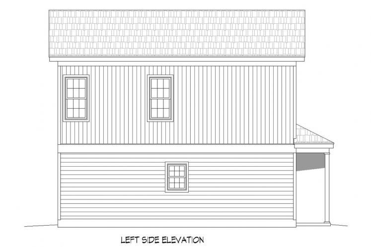 Traditional House Plan -  10505 - Left Exterior