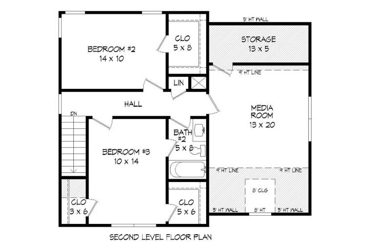 Country House Plan -  10505 - 2nd Floor Plan