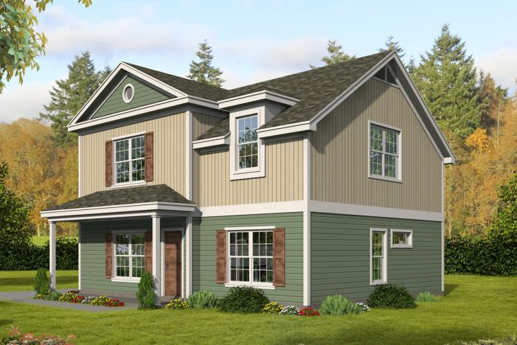 Traditional House Plan -  10505 - Front Exterior