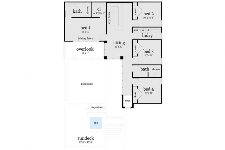 Southern House Plan - Coral Reef 10597 - 2nd Floor Plan