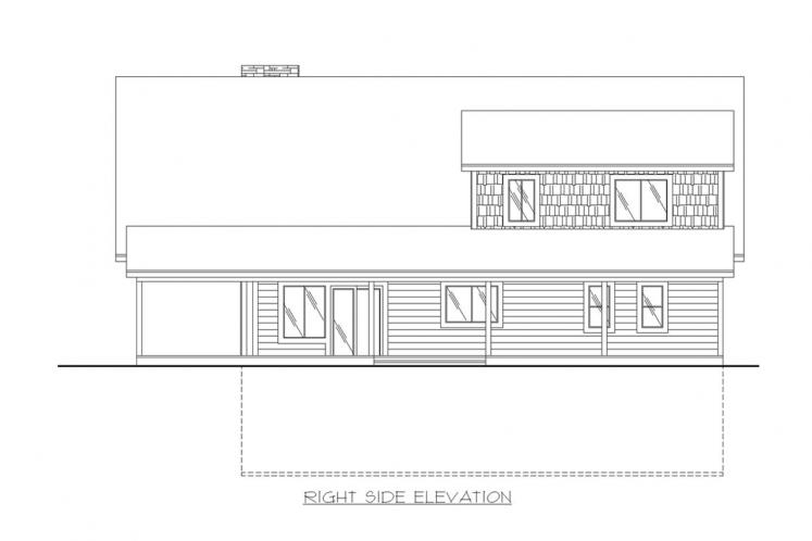 Cottage House Plan -  10613 - Right Exterior