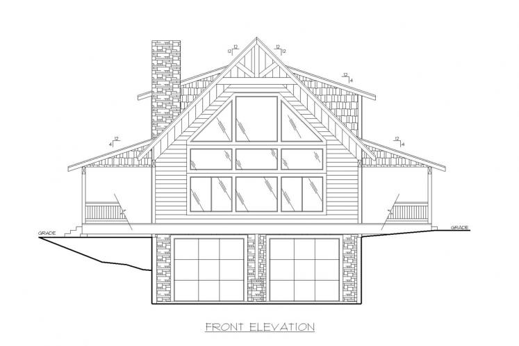 Cottage House Plan -  10613 - Front Exterior