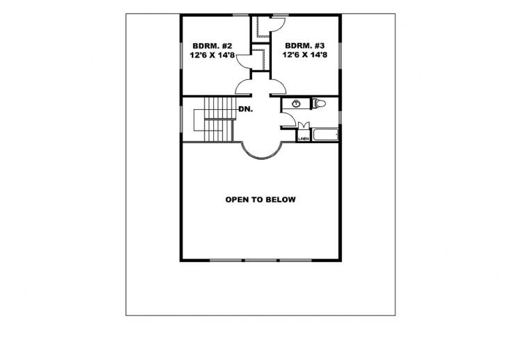 A-Frame House Plan -  10613 - 2nd Floor Plan