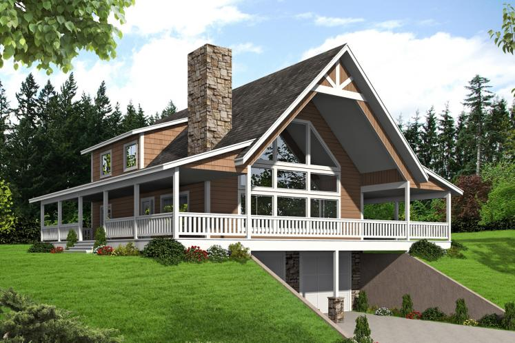 A-Frame House Plan -  10613 - Front Exterior