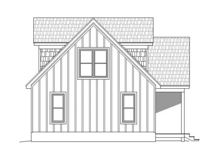 Cottage House Plan - Holiday Haven 10716 - Left Exterior
