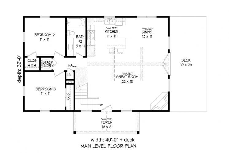 Cottage House Plan - Holiday Haven 10716 - 1st Floor Plan