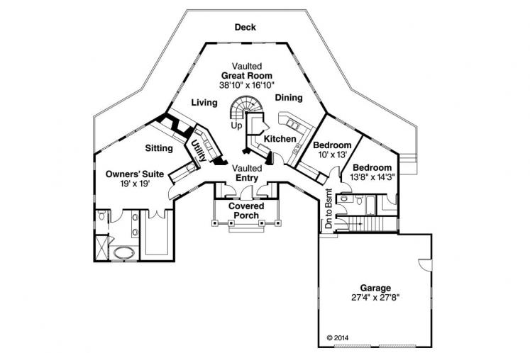 Craftsman House Plan - McCarren 10731 - 1st Floor Plan
